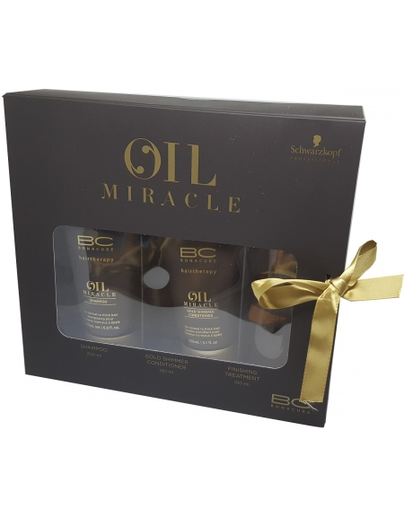 KIT OIL MIRACLE: SHAMPOO 200ML + CONDITIONER 150ML+ OIL 100ML SCHWARZKOPF